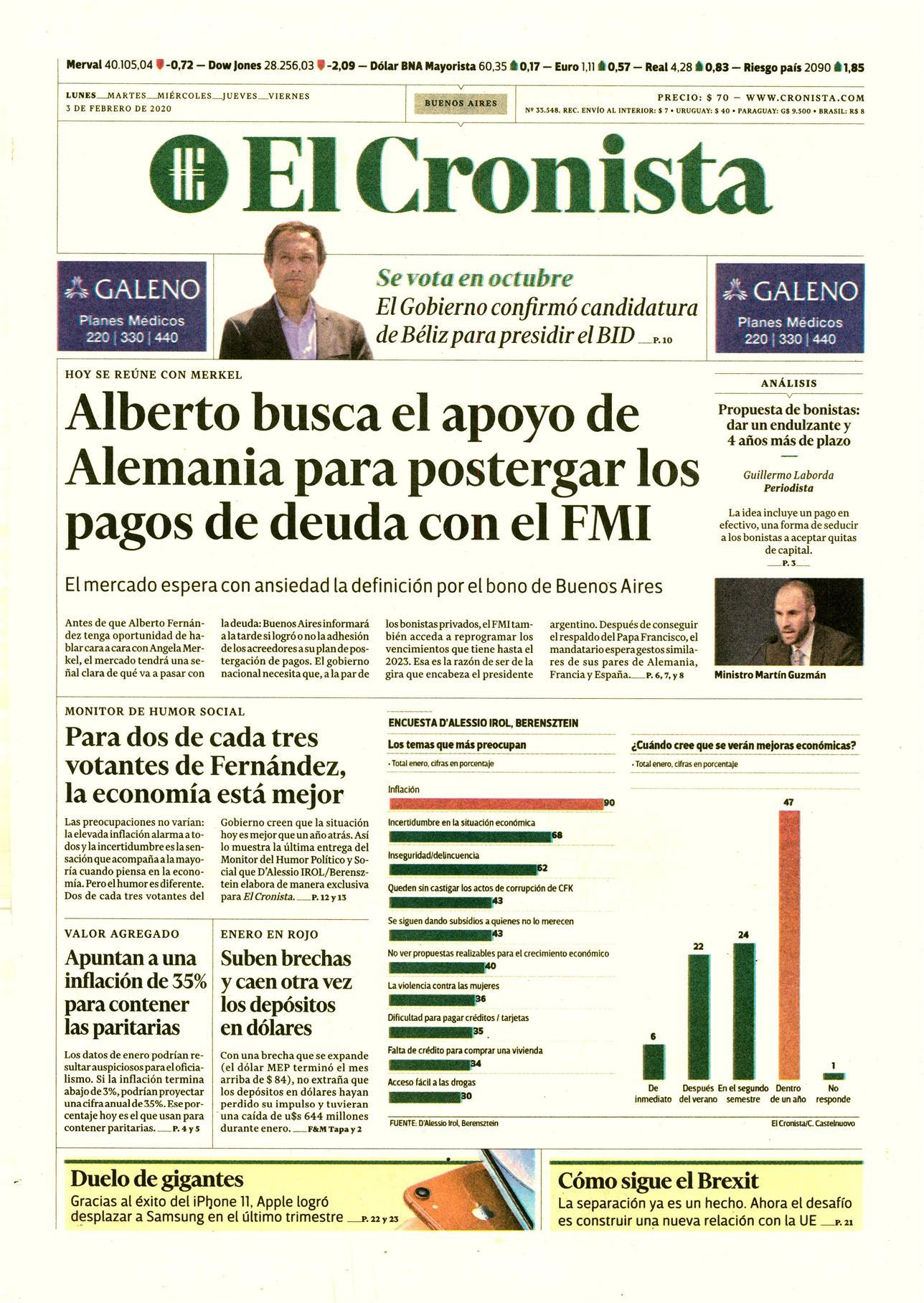 El Cronista - D'Alessio IROL - Eduardo D'Alessio
